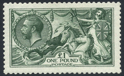 GB 1913 GV Waterlow Seahorse 1 SGN721 Mint NH Cat val 4800 7200